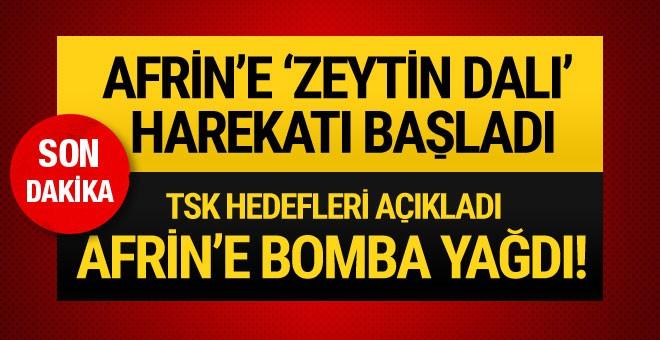 Türk savaş uçakları terör hedeflerini bombalıyor