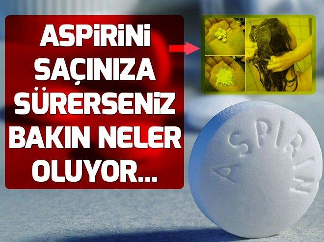 Aspirinin saçlara inanılmaz faydaları.