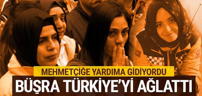 Türkiye Büşra'sına ağlıyor Mehmetçik için... Son yolculuğuna uğurlandı