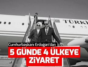 Cumhurbaşkanı Erdoğan'dan 5 günde 4 ülkeye ziyaret