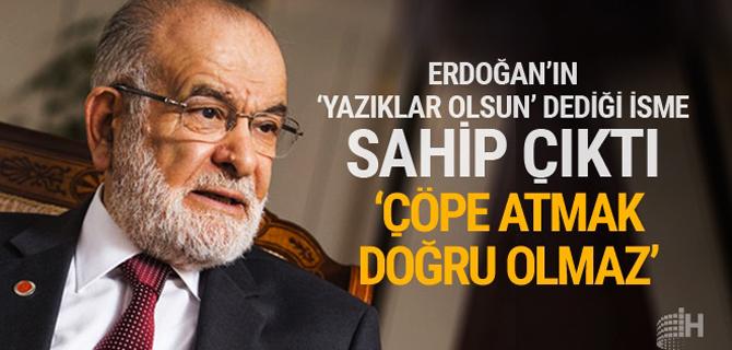 """Erdoğan'ın """"Yazıklar olsun"""" dediği isme sahip çıktı!"""