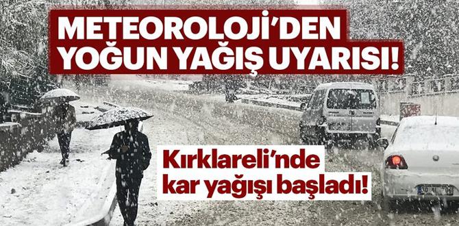 Kar yağışı başladı! İstanbul'da kar yağacak mı?