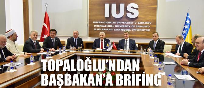 Pendikli işadamı Topaloğlu'ndan Başbakan Yıldırım'a brifing