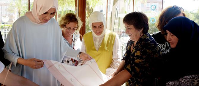 Tuzla'da üreten kadınlara destek