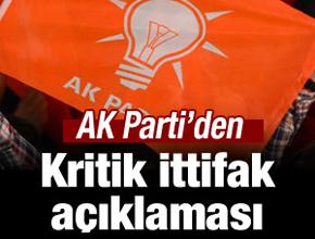 AK Parti'den kritik ittifak açıklaması