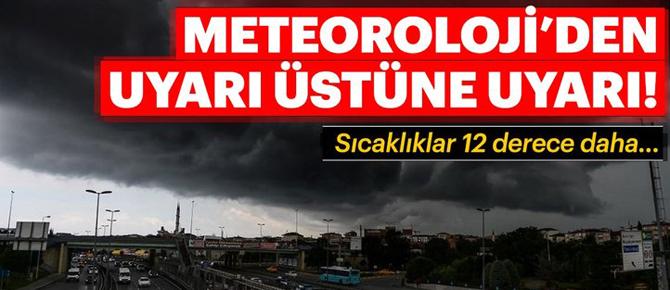 Meteorolojiden uyarı üstüne uyarı!!