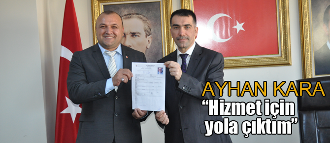 İşadamı Ayhan Kara AK parti'den aday adayı oldu