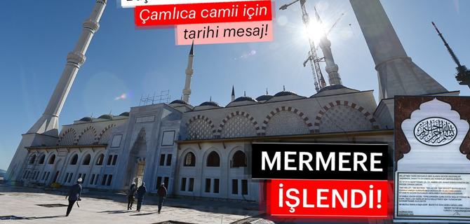Çamlıca Camisini bir de 'Kubbe'den görün!