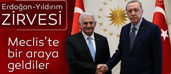 Meclis'te Erdoğan-Yıldırım zirvesi