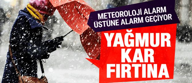 Kar geliyor meteoroloji yeni duyurdu!