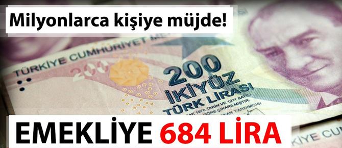 Emekli maaşlarına 684 lira zam yolda!