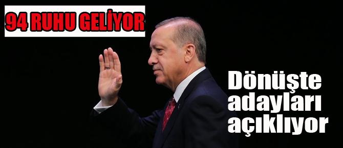 Erdoğan'dan yerel seçim manifestosu! Adayları açıklıyor..