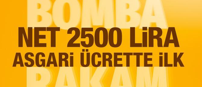 Asgari ücrette ilk rakam 2.500 lira