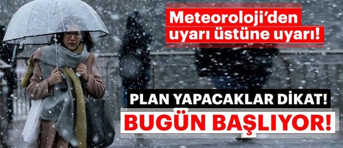 Kar yağışı bugün başlıyor!