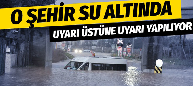 Evleri su bastı vatandaşlara uyarı yapılıyor