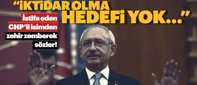 İstifa eden CHP'li isimden şok sözler!