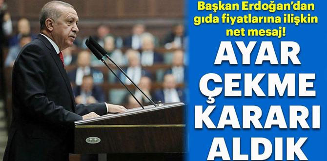 Başkan Erdoğan'dan gıda fiyatlarına ilişkin flaş açıklama!