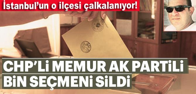 CHP'li memur AK Parti'nin bin seçmenini buhar etti