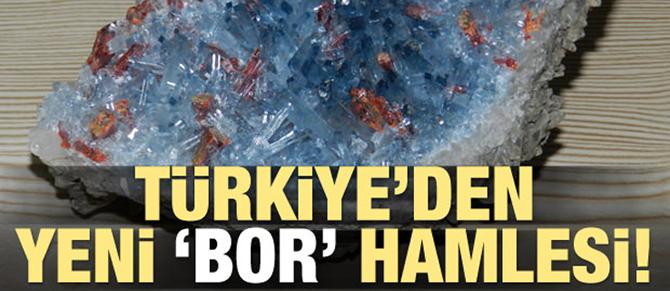 Türkiye'den yeni 'bor' hamlesi!