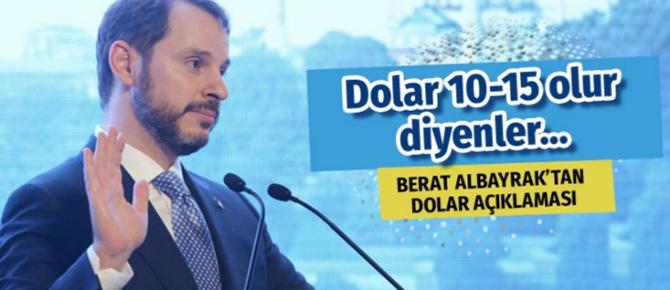 Berat Albayrak'tan önemli dolar açıklaması