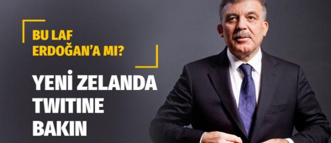 Abdullah Gül'ün lafı kime?