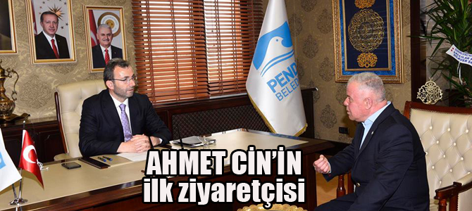 Ahmet Cin'i ziyaret eden ilk siyasi rakibi!