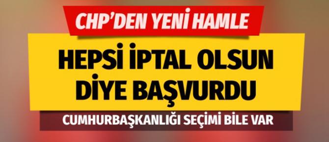 CHP'den İstanbul'un ilçeleri için seçim iptal başvurusu