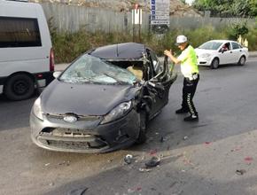 Pendik'te trafik kazası; Yaralılar var