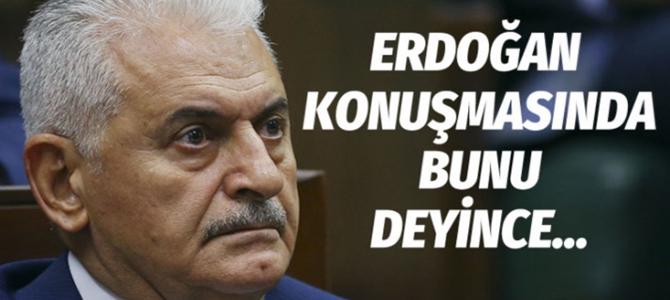 Erdoğan konuşurken Binali Yıldırım duygusal anlar yaşadı