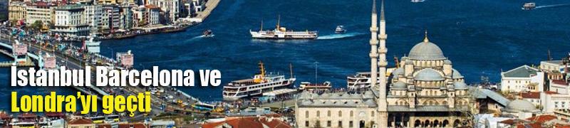 İstanbul  Barcelona ve Londra'yı geçti