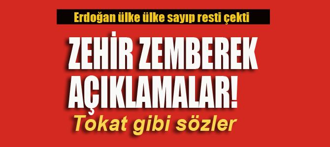 Erdoğan tek tek sayıp resti çekti!