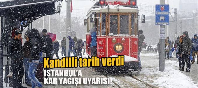 Kandilli tarih verdi! İstanbul'a kar uyarısı