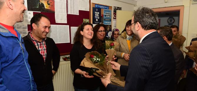 Mezun Olduğu Okulda Öğretmenler Günü'nü Kutladı