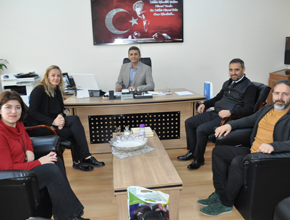 Kurtköy İlkokulu Müdürüne meslektaşlarından  ziyaret
