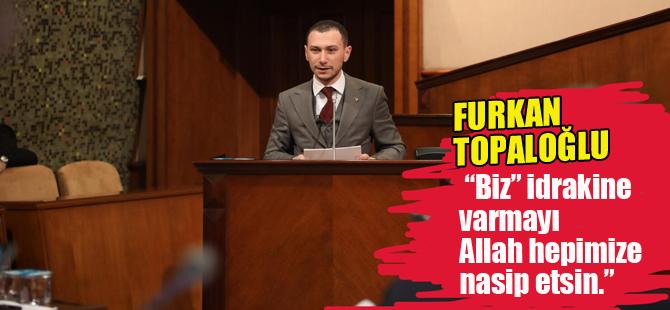 Topaloğlu'ndan Mecliste Erbakan konuşması