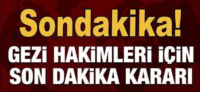 Gezi Parkı davasının hakimlerine soruşturma