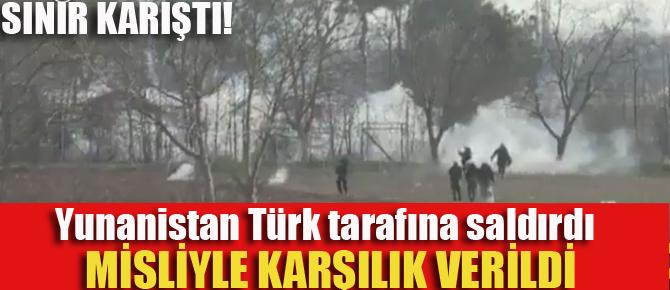 Yunan polisi Türk tarafına saldırdı! Misliyle karşılık verildi