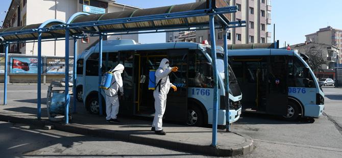 Pendik'te Koronavirüs'e karşı her yer dezenfekte ediliyor
