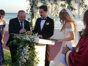 Gazi Oktay Kaya'dan duygulandıran nikah şahitliği
