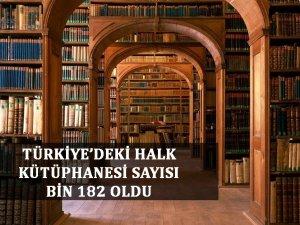 Türkiye'de halk kütüphanesi sayısı 182 bin oldu;kütüphanelerde ise 20 milyon kitap mevcut