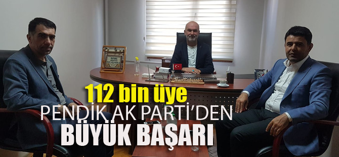 Pendik AK Parti'ye rekor katılım!