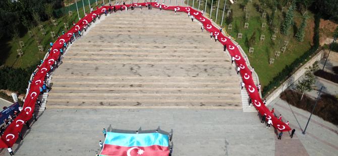 Cumhuriyetin 97. yılına özel 97 metrelik Türk Bayrağı