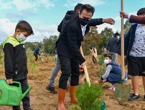 Tuzla'da binlerce fidan toprakla buluştu