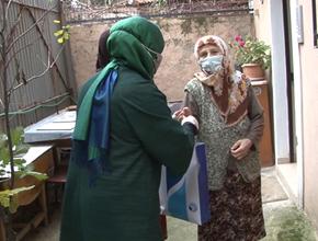 Tuzla'da 65 Yaş Üstü İhtiyaç Sahibi Vatandaşlara Temizlik Seti