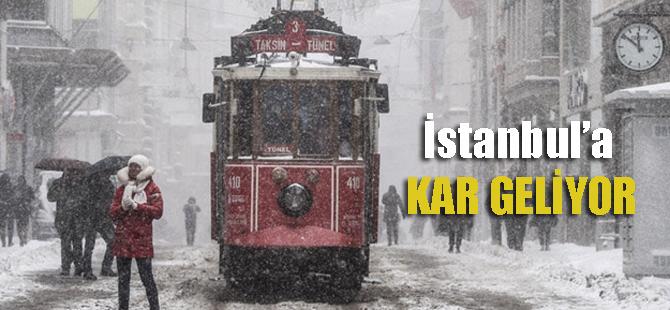 Alarm verildi! İstanbul'a kar geliyor