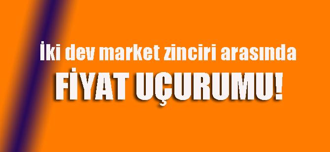 En bilindik market zincirleri arasında fiyat uçurumu