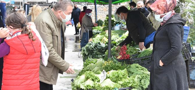 Pendik'te üreticiler ürünlerini pazarda satabilecek