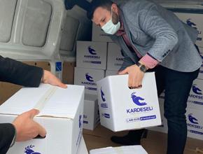 Fevziçakmak Mahalle Muhtarlığı'ndan 3000 aileye Erzak Kolisi