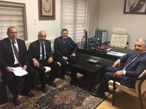 Şahin'den Ulaştırma Bakanı'na ziyaret