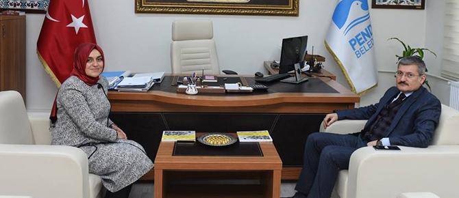 Yeni Başban Yardımcısının ilk ziyaretçisi, başkan Şahin oldu!